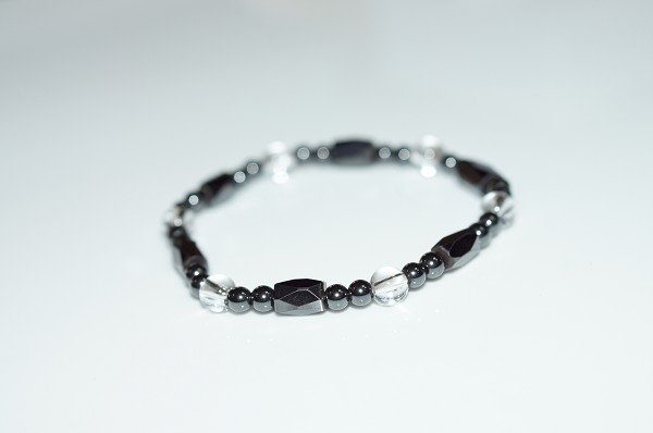 【喨喨飾品】磁性石 / 白水晶手鍊 健康開運飾品 A627