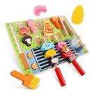 BBQ串燒木製平面烤肉扮家家酒 兒童玩具 扮家家酒玩具 木製玩具