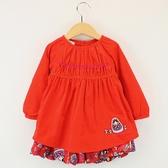 ~愛的世界~純棉俄羅斯娃娃條絨長袖洋裝2 3 歲中國製 洋裝