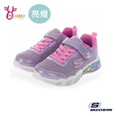 Skechers童鞋 女童電燈鞋 SWEETHEART LIGHTS 發光鞋 運動鞋 跑步鞋 閃燈 彩虹愛心燈鞋 魔鬼氈 U8273#粉紫
