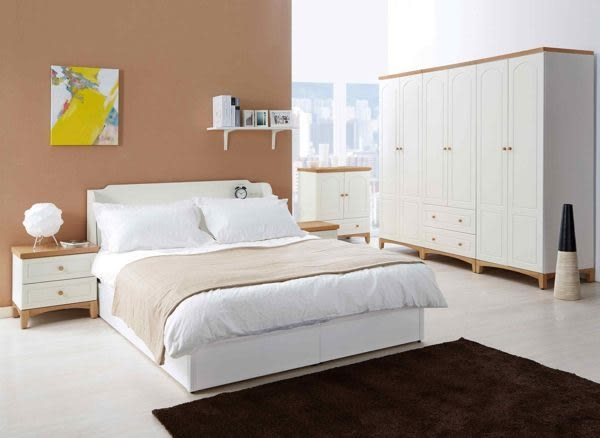 【森可家居】英式小屋2.7尺二抽衣櫥 7JX38-4 衣櫃 白色 英式鄉村風