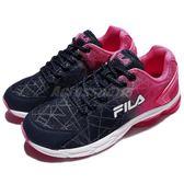 FILA 慢跑鞋 J908R 粉紅 深藍 白底 運動鞋 透氣舒適 基本款 女鞋【PUMP306】 5J908R322