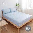 【青鳥家居】吸濕排汗頂級天絲三件式床包枕套組-宮廷之約(雙人)