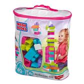 『121婦嬰用品館』MEGA BLOKS 美高80片積木袋-粉