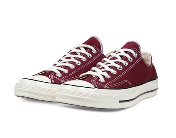 Converse 低筒休閒鞋 男女款 酒紅色 70S NO.162059C