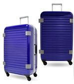 CROWN皇冠 經典橫紋鋁框箱/旅行箱 -27吋-(紫色)