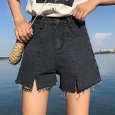 春夏新款大碼高腰牛仔短褲女寬松顯瘦A字闊腿褲熱褲【韓衣舍】
