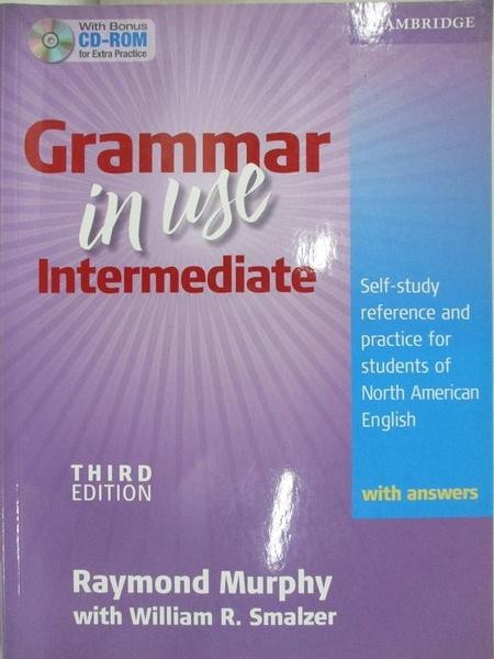 【書寶二手書T1/語言學習_KPG】Grammar in Use Intermediate: Self-Study Reference…