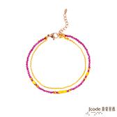 J'code真愛密碼 獨特黃金/石英手鍊-雙鍊款