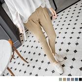 《BA0872》高含棉格紋反折立體打褶哈倫褲--適 2L~7L OrangeBear