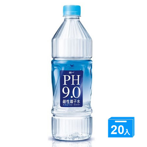 統一PH9.0鹼性離子水800ML*20