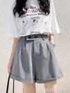 西裝短褲女夏季寬鬆2021年新款闊腿直筒港味工裝中褲子高腰五分褲 蘿莉館品