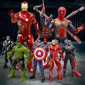 漫威復仇者聯盟4蜘蛛俠鋼鐵俠美國隊長綠巨手辦復仇者聯盟4手辦模型擺件 時尚教主