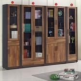 【水晶晶家具/傢俱首選】JF0814-4567雷恩8×6.3尺雙色四件式書櫃全組~~台製精品