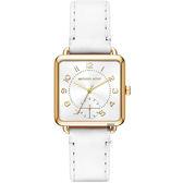 Michael Kors MK BRENNER 時尚手錶-白x金框/31mm MK2677