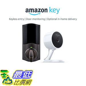 Kwikset Convert Smart Lock Conversion Kit in Venetian Bronze + Amazon Cloud Cam Amazon Key