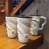 陶瓷杯帶蓋帶勺馬克杯辦公室大容量