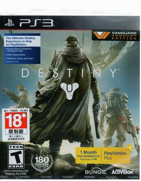 現貨中 PS3 遊戲 天命 Destiny 英文亞版 附特典 【玩樂小熊】
