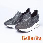 bellarita.閃亮水鑽休閒運動鞋(8956-85灰色)