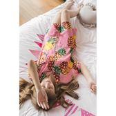 性感襯衫睡衣女夏季冰絲中裙韓版睡裙