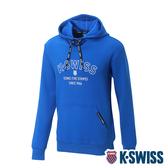 K-SWISS Embossed KS Logo Hoodie連帽上衣-男-藍