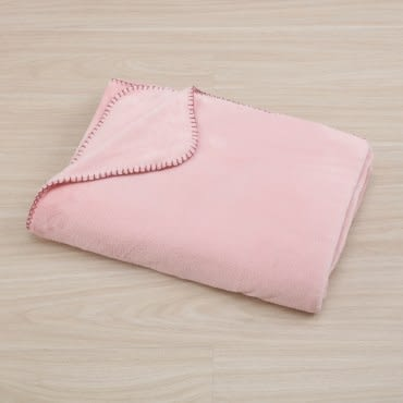 HOLA home 銀離子抗菌柔纖萬用毯 蜜桃粉 雙人