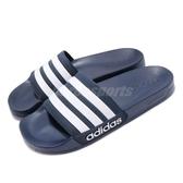 adidas 拖鞋 Adilette Shower 藍 深藍 白 運動拖鞋 男鞋 女鞋 涼拖鞋 舒適好穿【PUMP306】 AQ1703