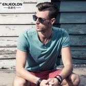 英爵倫 男士短袖T恤  新款潮牌夏裝 男裝半袖男上衣 體恤衣服 亞斯藍