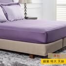 HOLA 雅緻天絲素色床包 特大 絳紫