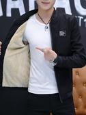 男士外套春秋季2019新款韓版潮流秋裝上衣服男裝秋冬加絨休閒夾克
