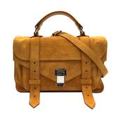 【台中米蘭站】全新品 Proenza Schouler PS1 TINY 麂皮手提斜背二用包(橘黃)