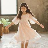 女童洋裝 女童連身裙兒童女孩公主裙中大童韓版洋氣裙子潮 傾城小鋪