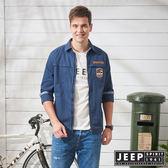 【JEEP】冒險百搭襯衫式外套-藍
