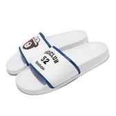 Reebok 拖鞋 Classic Slide 白 藍 熊 OiOi 聯名款 男鞋 女鞋 運動拖鞋 【ACS】 GZ8778
