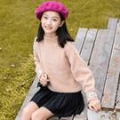 女童毛衣2020新款兒童女套頭打底衫中大童洋氣韓版秋冬加厚針織衫