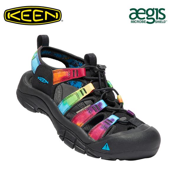 【KEEN 美國 女 NEWPORT H2 護趾涼鞋《黑/彩色》】1018822/水陸兩用鞋/戶外休閒鞋/運動涼鞋