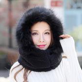 女冬天韓版保暖圍脖一體加絨加厚護耳帽OR1204『miss洛羽』