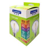 6.5W可調光中圓LED燈絲燈泡E27 黃光