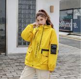 韓版上衣S-2XL/1961秋款工裝外套女寬鬆bf超火cec原宿風寬鬆女外套F3042-B胖胖唯依