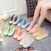 透明果凍雨鞋雨靴防水鞋膠鞋水靴女成人潮短筒韓國可愛時尚防滑夏【快速出貨】