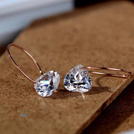 水晶迷你閃耀鑽石耳飾