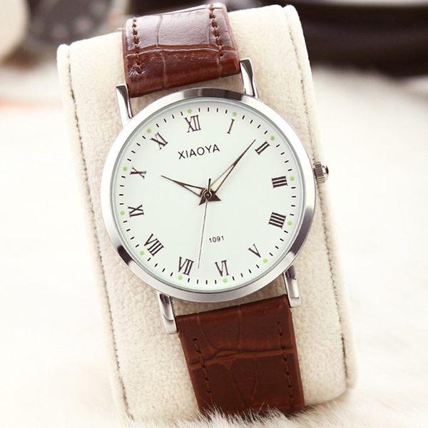 手錶 正韓時尚簡約潮流手錶男女士學生防水情侶女錶休閒復古男錶石英錶