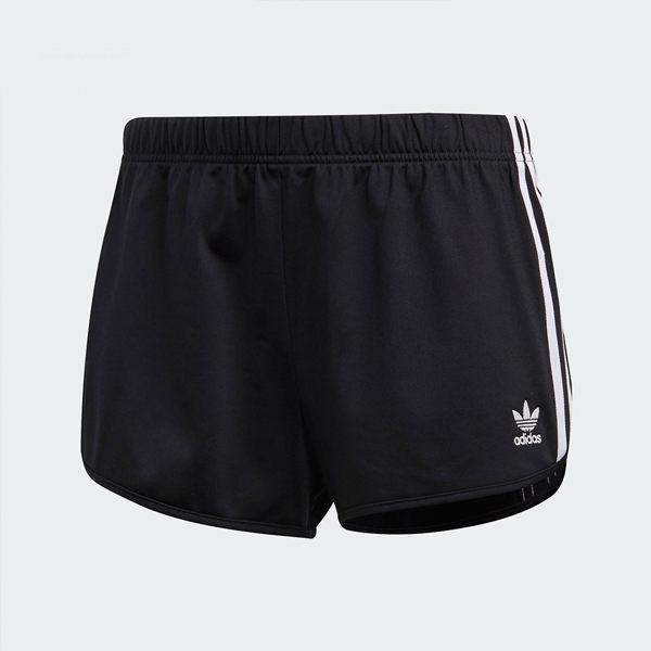 ADIDAS ORIGINALS 3 STRIPES 真理褲 黑 休閒 熱褲 短褲 三條線 運動褲 女 (布魯克林) DV2555