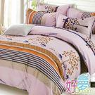 雙人床罩 / 兩用被四件組 (小清新) 含兩件鋪棉枕套 活性絲柔棉 好夢寢具台灣製