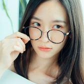ASLLY濾藍光眼鏡-維也納圓舞曲/韓系追劇百搭琥珀圓框眼鏡