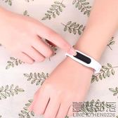 LED手環手鐲手錶女學生韓版簡約情侶一對防水夜光電子錶男數字式