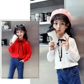 女童襯衫春秋2019新款韓版公主洋氣秋裝上衣時尚兒童白色長袖襯衣Mandyc