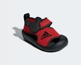 Adidas 小童鞋紅黑米奇魔鬼氈休閒鞋-NO.D96909