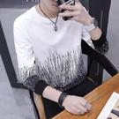 男士衛衣韓版長袖T恤潮流春秋季新款打底衫修身秋裝上衣服男 快速出貨