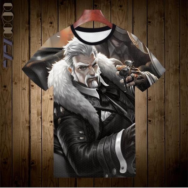 新品男士短袖t恤圓領修身上衣夏季日系內搭王者男裝半袖農藥射手